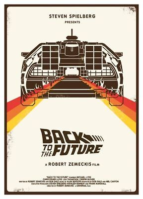 1985 Back To The Future Hill Valley Alternate Movie Poster > Print > Delorean