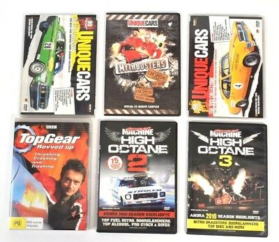 Bulk DVDS Top Gear - Unique Cars - High Octane - Myth Busters Series 6 Movies