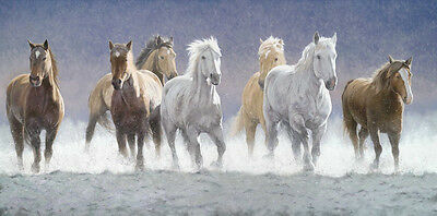 Art Giclee Print Animals Horses in Snow oil painting HD Printed on canvas P284