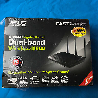 Brand New ASUS RT-N66U Dual-band 2x2 N900 Wifi 4-port Gigabit Router