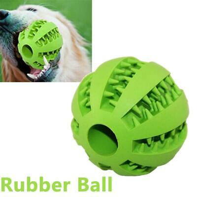 Green Pet Dog Puppy Cat Training Dental Toy Rubber Ball Chew Treat