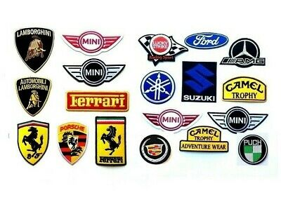 Select Super Car Racing Brands Embroidered Iron/Sew on Patch Badge Biker Motor