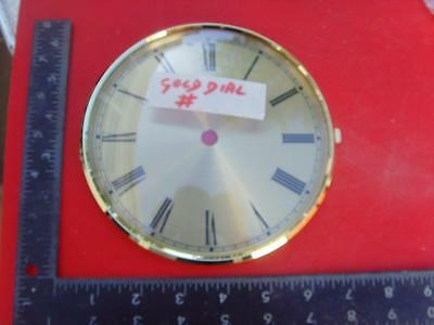 22/2 :cjs#53c   Quality Kieninger  brass  clock bezel & dial with glass 158mm od