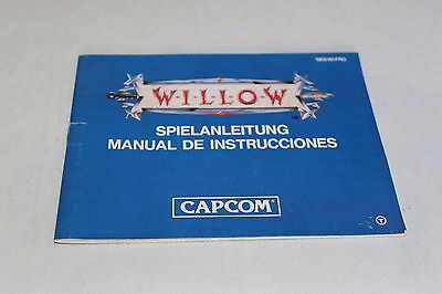 Manual Willow para Nintendo NES PAL ESPAÑA PAL B