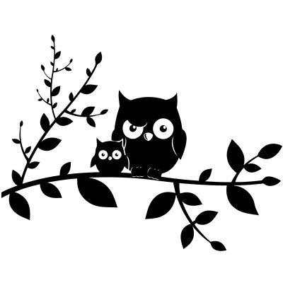 Owl Family For Auto Car/Window Vinyl Decal Sticker Decals Decor CT097