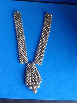 Vintage Pearl Beaded Drop Collar  For Blouse Or Dress