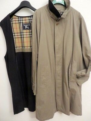 BURBERRYS Mantel Trenchcoat + herausnehmb. Wollfutter 50 52 Nova Check  Military 71191ab4f3