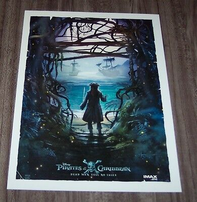 PIRATES OF THE CARIBBEAN Movie Premiere LIMITED EDITION IMAX PROMO POSTER ART