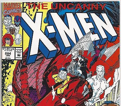 Marvel Comics the UNCANNY X-Men #284 from Jan. 1992 in VF condition DM