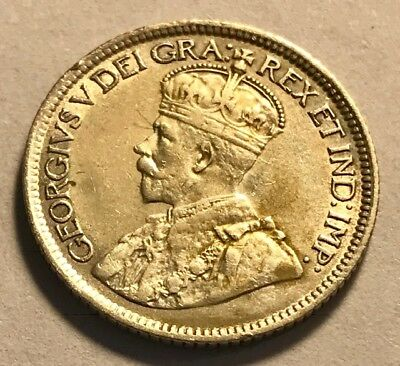 CANADA - George V - Silver 10 Cents - 1920 - Extra Fine