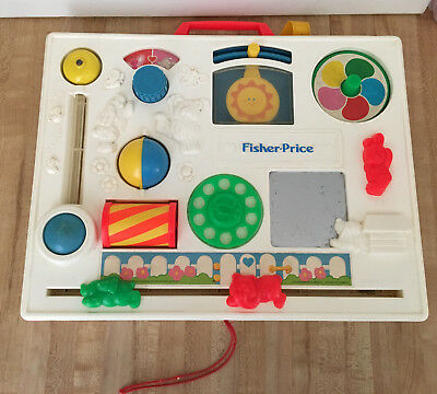 Vintage Fisher Price Baby Crib Activity Center Busy Box 1988