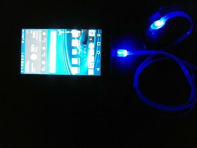 RED CABLE W/ LED Glow Car Charger - Micro USB Cell Phone Fast LED