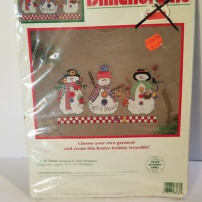 Dimensions FANCY WREATH 8483 Waste Canvas Counted Cross Stitch Kit NOS 1995