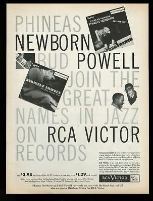 1957 Phineas Newborn Bud Powell photo RCA Victor Records vintage print ad