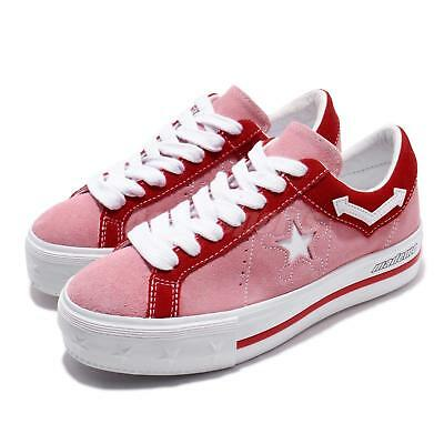 Converse Made Me One Star Platform OX Pink Red Women Casual Shoe Sneaker  563730C 9b3eb75ea