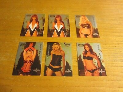 Nicole Bennett +5 Lot of 6 2004 Bench Warmer Series Two Hotties Insert Cards