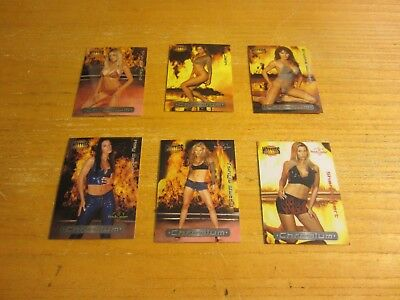 Brooke Morales +5 Models Lot of 6 2002 Bench Warmer Hotties Chromium Cards