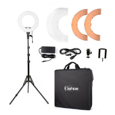 """Photography Kit 12"""" 5500K 180Pcs Dimmable LED Ring Lights Kit with Stand"""