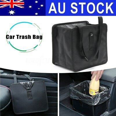 AU Car Trash Bin Waste Basket Storage Garbage Can Litter Leakproof Bag Organizer