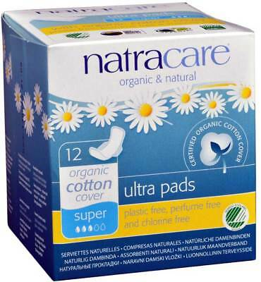 Natracare Natural Ultra Pads w/wings Super w/organic cotton cover 12 Pack
