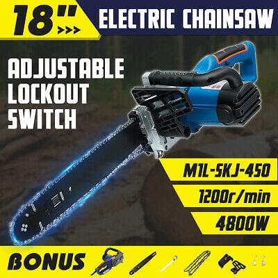 "STURDY 4800W Electric Chainsaw E-Start 19"" Bar Chain Saw For Home Industrial AU"