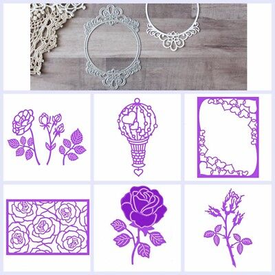 Mixed Flower Metal Cutting Dies Handcrafts Paper Cards Scrapbooking Decorative