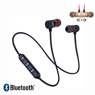 Wireless Bluetooth 4.2 Headset Headphones Earphone Sport Magnetic Stereo Earbuds