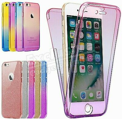 For iPhone Models 360° Case Shockproof Slim Silicone Protective Clear Cover