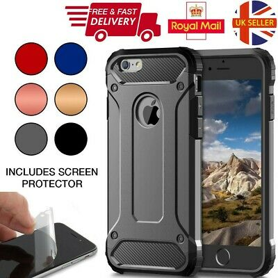 Case For iPhone 8 7 Plus 5s 6s XS XR Hybrid Armor Shockproof Rugged Bumper Cover