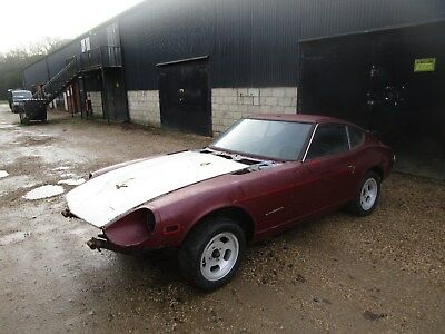 Datsun 240z LHD 1973 Roller Shell Project  Car. Sale price includes 20% VAT.