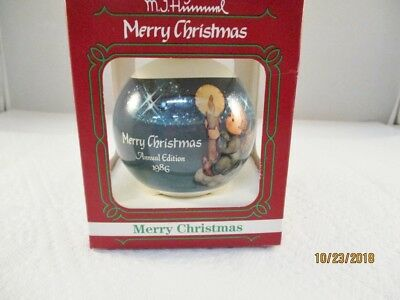 Goebel MJ Hummel Merry Christmas 1986 Annual Edition