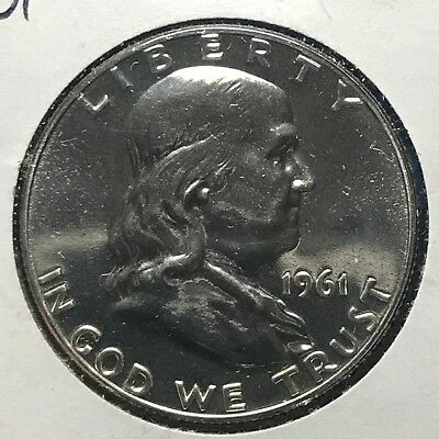 1961 50C Franklin Half Dollar (48438) PROOF