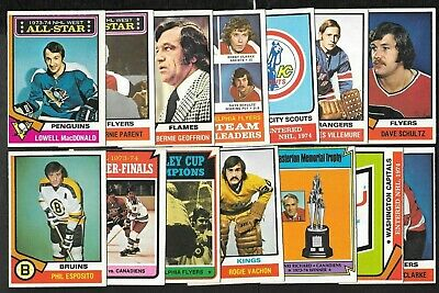 1974-75 Opc O Pee Chee Nhl Hockey Card Error & Wrong Back 133-264 See List