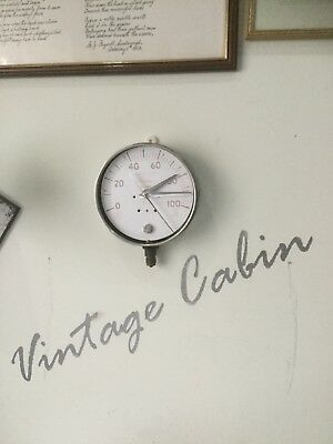 Vintage Steampunk Wall Clock Upcycled From Stainless Steel Gauge Industrial Look