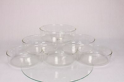 Vintage Blown Glass Science Laboratory Petri Dishes Bowls Dessert Steampunk Old
