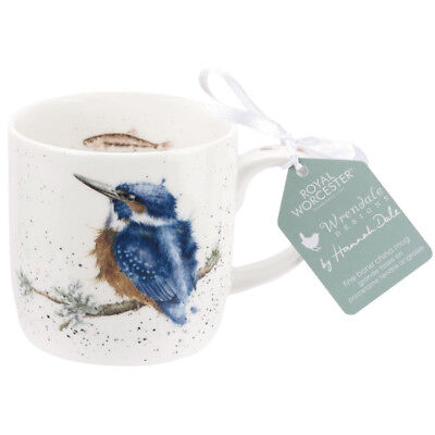 Royal Worcester Wrendale King of the River Kingfisher Fine Bone China Mug