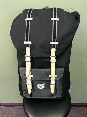 Herschel Supply Co. Little America Backpack Back Pack Black Denim Brand NEW e3ae50ccab999