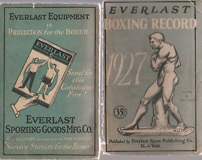 Everlast 1927 Boxing Record-447 Pages-Dempsey, Tunney,Etc.