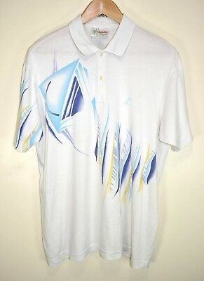 AUSTRALIAN BY L'ALPINA 80s VINTAGE RETRO SHORT SLEEVED COTTON POLO SHIRT size L