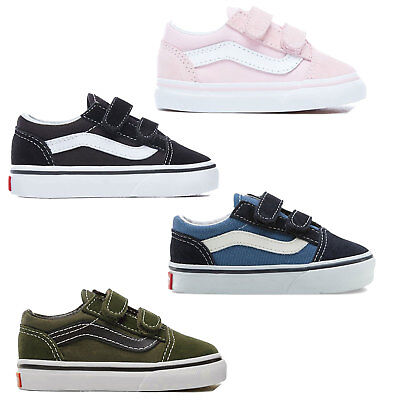 Vans T Old Skool Toddler Sneaker Touch Fastener Shoes Sneakers Shoes