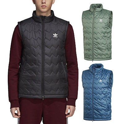 03b285d77ddf Adidas Originals Puffy Vest Men s Quilted Winter Artificial Feathers