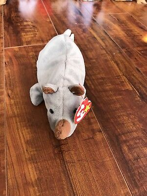 a37aa3dd10d SPIKE THE RHINO Mint TY Beanie Baby Retired -  3.99