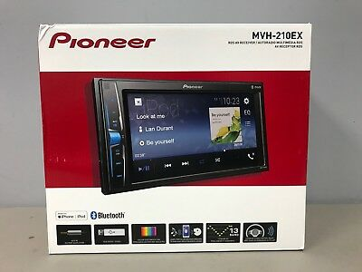 Pioneer MVH210EX 6.2 Double DIN In-Dash AV Receiver w/ Bluetooth MVH-210EX NEW