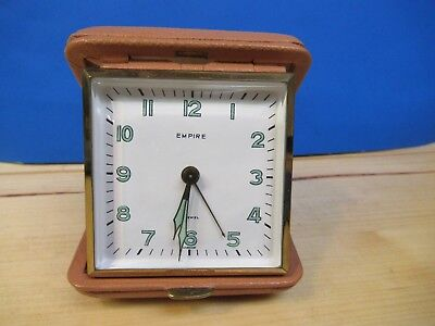 Vintage Travel Alarm Clock Made In Germany Us Zone 1950'S Forn Co. Empire