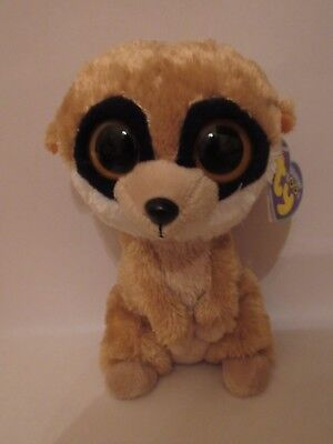 27b162f17a3 Ty Beanie Boos ~ REBEL the Meerkat (6 Inch) NEW MWMT WITH TAGS RARE