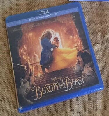 BEAUTY AND THE BEAST ~ Blu-Ray + DVD + Digital HD *New *Factory Sealed