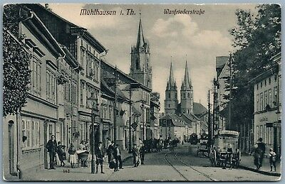 MUHLHAUSEN i.TH GERMANY WANFRIEDERSTRASSE 1909 ANTIQUE POSTCARD