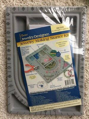 Darice Jewelry Making Starter Kit Silver NEW Design Board
