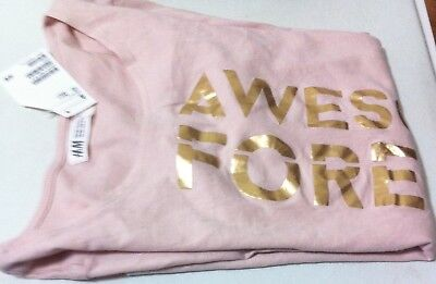 New H&M girls long sleeve light pink color T-shirt, size 14 Y+