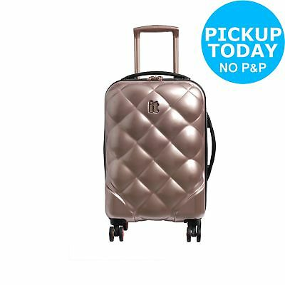 IT Luggage 8 Wheel Vanity and Cabin Luggage Set - Rose Gold